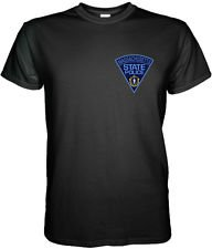 MASSACHUSETTS STATE POLICE BADGE T SHIRT Size S, M, L, XL, 2XL, 3XL