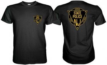 NEW JERSEY STATE POLICE BLACK TSHIRT Sz. S, M, L, XL, 2XL, 3XL