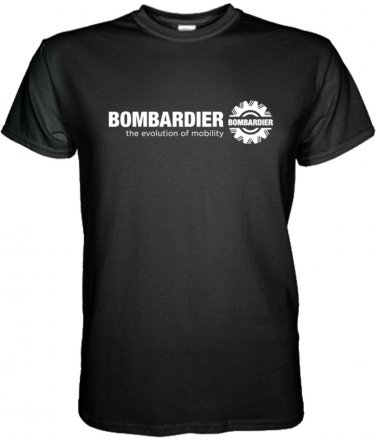 BOMBARDIER T-SHIRT Aerospace Aviation TShirt Short Sleeve S - 3XL