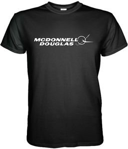 MCDONNELL DOUGLAS T-SHIRT Aerospace Aviation Short Sleeve Graphic Tee S - 3XL