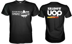 SHADOW UOP TOM PRYCE RETRO F1 BLACK TSHIRT Size S M L XL 2XL 3XL