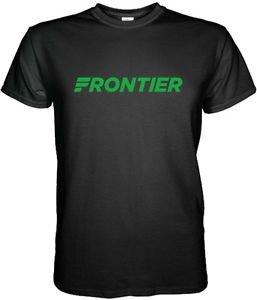 FRONTIER Airlines Airplane Pilot Black T-Shirt Size  S M, L XL 2XL 3XL