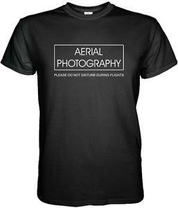 NEW AERIAL PHOTOGRAPHY BLACK WHITE TShirt DJI 1 3RD SOLO  S - 3XL