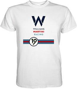 Williams Martini Racing Team Formula 1 Classic F1 T-Shirt S M L XL 2XL 3XL
