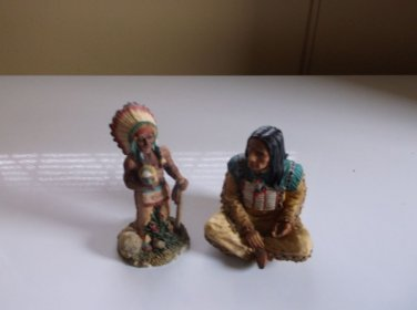 Set of Indian Chief Statues