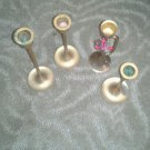 Brass or Copper Candleholders set of 4