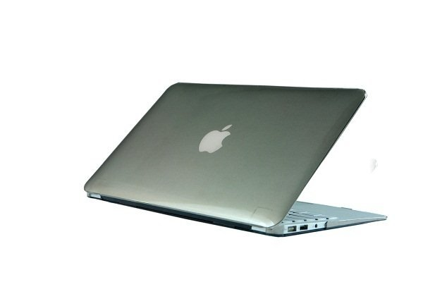 "Ultra Slim Crystal Clear Hard Case for MacBook Air 11.6"" (Gray) & Free Keyboard Cover(Random)-282B"