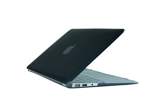 "Ultra Slim Crystal Clear Hard Case for MacBook Air 11.6"" (Black) & Free Keyboard Cover(Random)-282H"