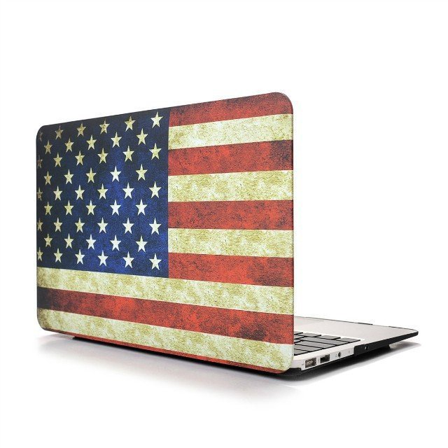 "Ultra Slim USA Flag Hard Case for MacBook Air 11.6"" & Free Keyboard Cover(Random)-283D"