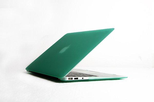 "Ultra Slim Anti Glare Hard Case for MacBook Air 11.6"" (Green) & Free Keyboard Cover(Random)-284D"