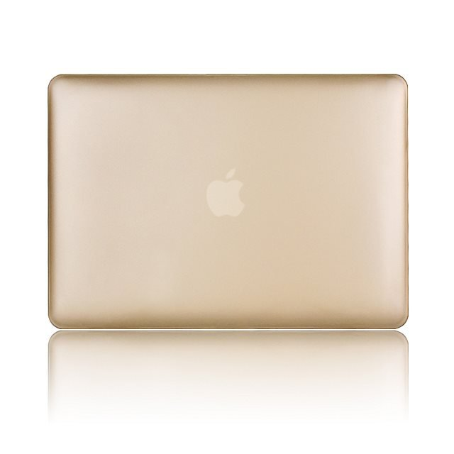"Ultra Slim Gold Rubberized Hard Case for Apple MacBook Air 13.3"" & Free Keyboard Cover(Random)-285B"