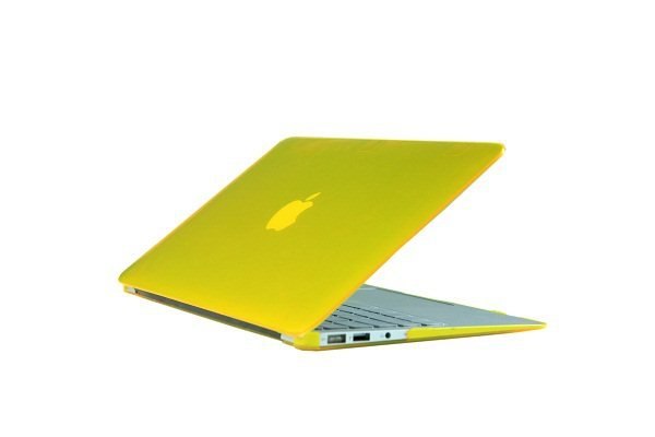 """Ultra Slim Crystal Clear Hard Case for MacBook Air 13.3"""" (Yellow) & Free Keyboard Cover-286F"""
