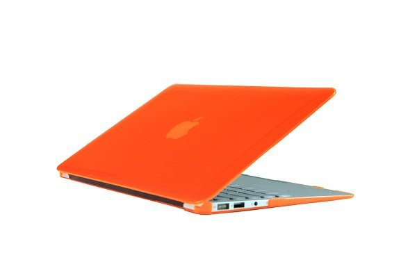 "Ultra Slim Crystal Clear Hard Case for MacBook Air 13.3"" (Orange) & Free Keyboard Cover-286I"