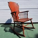 Antique Cherry Wood Rocking Chair
