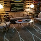Mid Century 1950s Rattan/Tiki Couch, Chairs, Tables Set