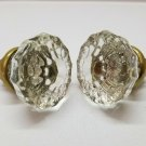 2 Antique Glass Door Knobs