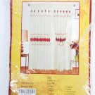 """Vintage Polyester Window Curtain 60"""" x 90"""" NOS"""