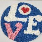 Vintage Love Hippie Plastic Sign