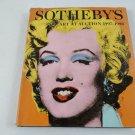 Sotheby's Auction Art Catalog 1997 1998
