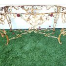 French Antique Wrought Iron Ornate Foyer Table Impressive Turn Of The Century