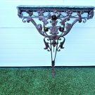Antique French Wrought Iron Acanthus Leaf Wall Mount Console Table