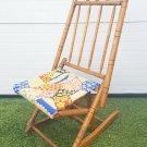 Antique Wooden Folding Rocker Rocking Chair