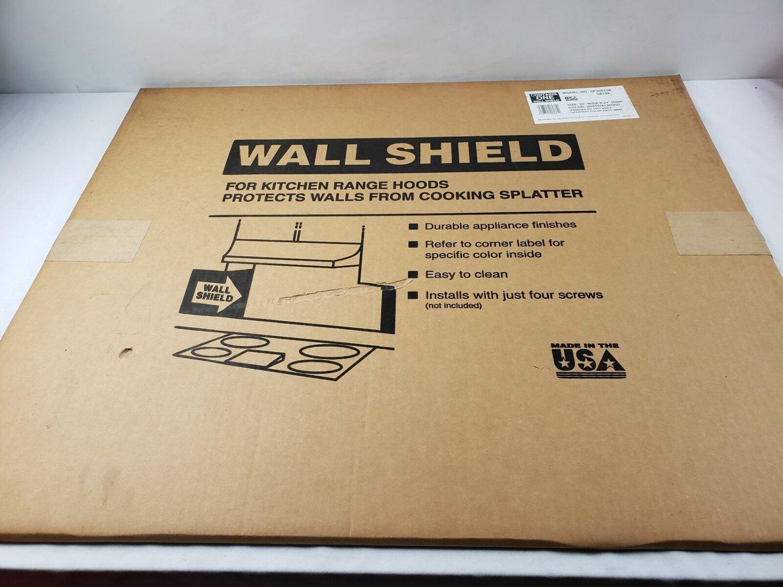 Vintage Metal Wall Backsplash White or Almond  Gold 30 x 24 NOS