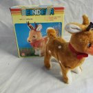 Vintage Battery powered Red Nosed Reindeer