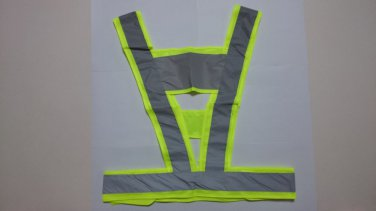 High Visiblity Security Reflective Vest Safety Strip Vest Flourescent Yellow