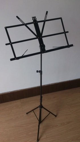 3 Folding Metal Sheet Music Stand Compactable Portable Pack W Black Carrying bag
