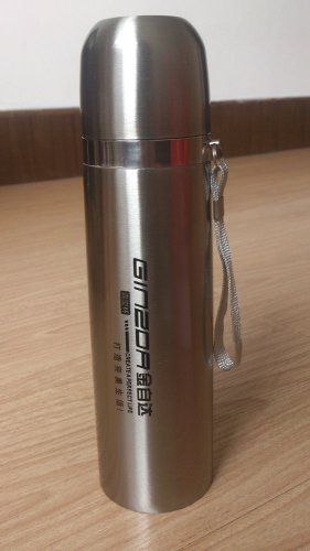 Stainless Steel Chic Stripe Vacuum Flask Tea Coffee Water Bottle Thermos 500ML