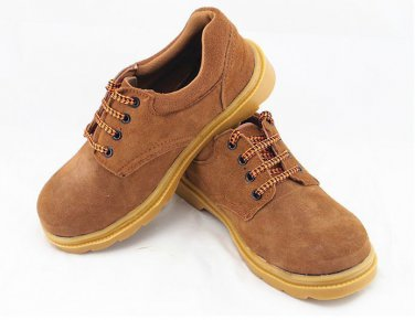 Men's Steel Toe Black Leather Work Boots Shoes Low Cut Oil Pressure Resistant