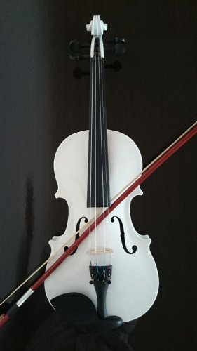 Student Acoustic Violin Size 3/4 Maple Spruce with Case Bow Rosin White Color