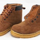 Men's Steel Toe Suede Leather Work Boots Shoes High-Cut Oil Pressure Resistant