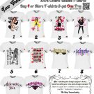 Custom Selena Gomez - #Selenator  T-shirt Unisex Sizes Small,Medium & Large