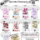 Custom One Direction 1D Niall,Liam,Harry,Zayn &Louis 1D T-shirt Unisex - Small,Medium Or Large