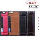 For iPhone 6/6s Luxury PU+Leather Case Cover with Invisible Stand and Card Slot