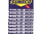 10 Sunoco official fuel of NASCAR stickers 6 1/2 by 4 3/4 inches tall