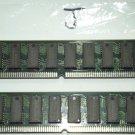 pair of 2 RAM MH1M36ASDJ-7 305A64 tin connectors 72 pin SIMM