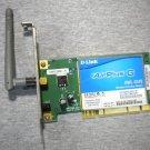 DWL-G510 D-LINK AIR PLUS WIRELESS WIFI Card G PCI LOW profile Half Height Rev B1