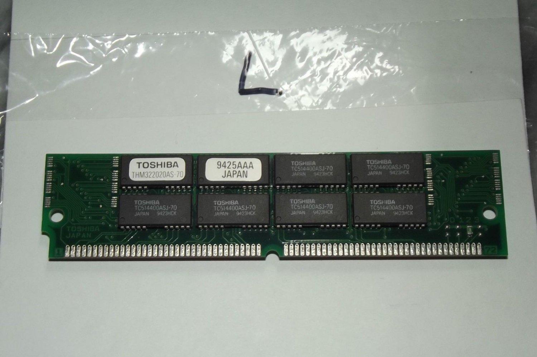 Toshiba THM322020AS-70 8MB 72p 70ns 16c 1x4 FPM SIMM VINTAGE NOS