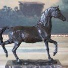 Equestrian Trotting Horse Bronze Sculpture