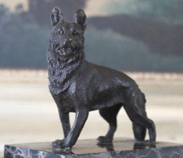 German Shepherd Bronze Sculpture