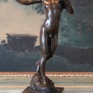 Nude Boy with Slingshot Bronze Sculpture