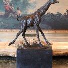 Galloping Giraffe Bronze Sculpture