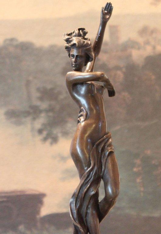 Sensual Nude Draped Woman