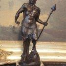 Roman General Warrior Bronze Sculpture