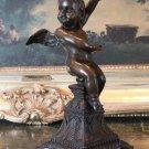 Nude Cherub Angel Bronze Sculpture
