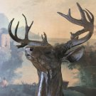 Wildlife Trophy Elk Bust Bronze Sculpture
