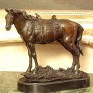 Equestrian Saddled Horse Bronze Sculpture